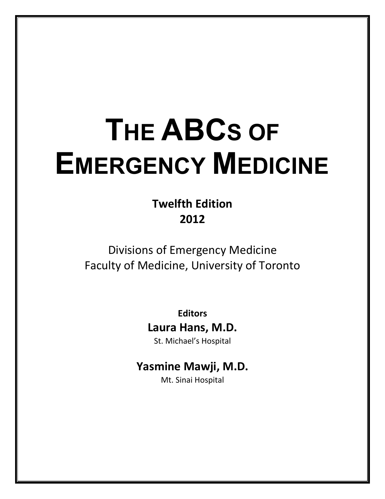 abcs of emergency medicine pdf