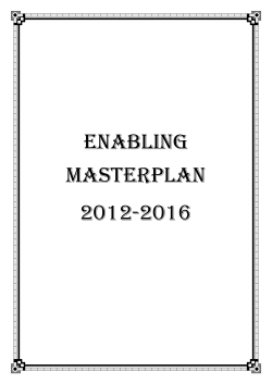 Enabling Masterplan 2012-2016 - Ministry of Social and Family