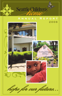 final pdf for customer.indd - Seattle Childrens Home