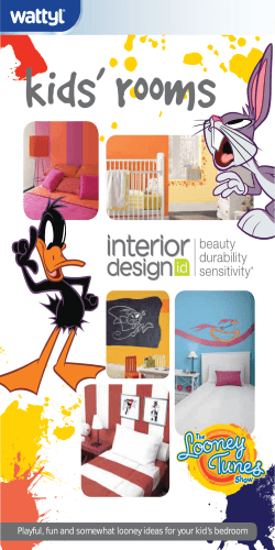 Playful, fun and somewhat looney ideas for your kids bedroom - Wattyl