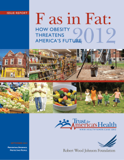 F as in FAT: how obesity threatens Americas future - Robert Wood