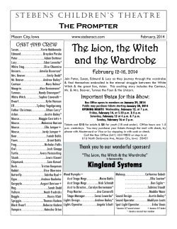 The Lion, the Witch and the Wardrobe - Stebens Childrens Theatre