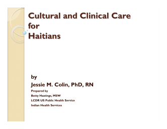 Cultural and Clinical Care for Haitians
