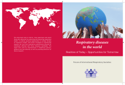 Respiratory diseases in the world - American Thoracic Society