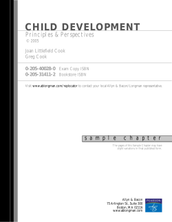 CHILD DEVELOPMENT - Pearson