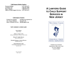 A Lawyers Guide to Child Support Services in New Jersey