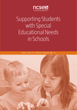 Supporting Students with Special Educational Needs in Schools