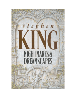 By Stephen King and published by - Weebly