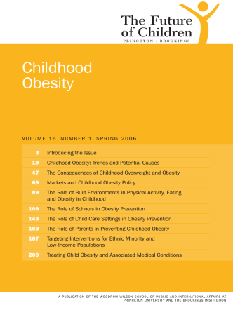 Childhood Obesity - The Future of Children