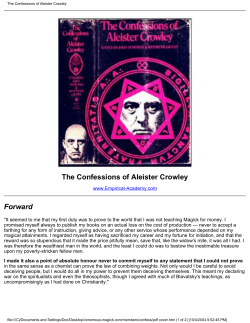 The Confessions of Aleister Crowley - Niontron