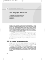 10 First language acquisition