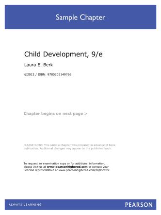 Child Development, 9/e - Pearson