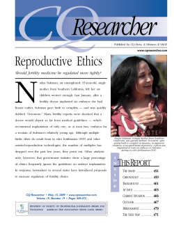 Reproductive Ethics [PDF] - Center for Genetics and Society