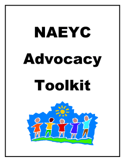 NAEYC Advocacy Toolkit - National Association for the Education of