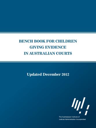 bench book for children giving evidence in australian - Aija.org.au