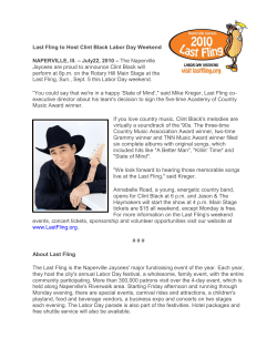 Last Fling to Host Clint Black Labor Day Weekend NAPERVILLE, Ill