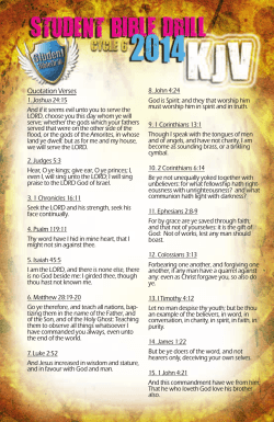 Student Bible Drill verse cards (KJV) - Mississippi Baptist Convention