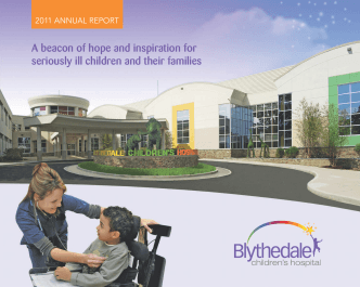 Blythedale Childrens Hospital 2011 Annual Report