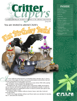 2014 Spring Newsletter - California Living Museum
