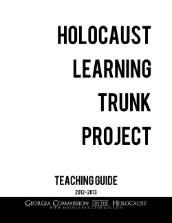Holocaust Learning Trunk Project: Teaching Guide - Georgia