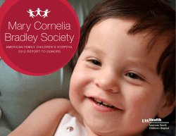 Mary Cornelia Bradley Society - American Family Childrens Hospital