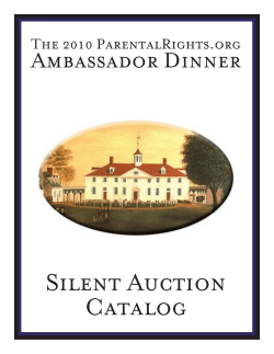 Final Catalog for PRO silent auction - Parentalrights.org