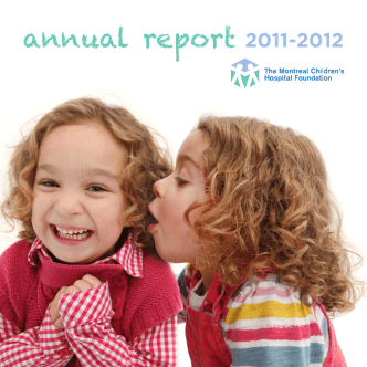 annual report 2011-2012 - The Montreal Childrens Hospital