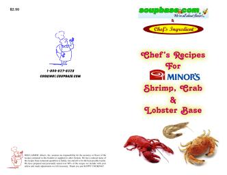 Chefs Recipes For Shrimp, Crab Lobster Base - soupbase
