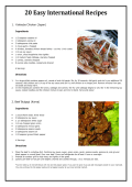 20 Easy International Recipes - University of Florida International