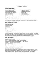 Crockpot Recipes - MSU Extension