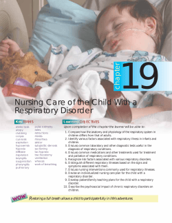 Nursing Care of the Child With a Respiratory Disorder - LWW.com