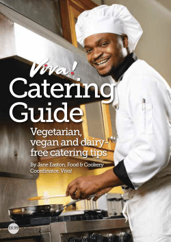 Catering Guide - Vegan Recipe Club