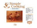 In this Issue Recipe Index - Simple Cooking!