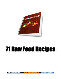 71 Raw Food Recipes - Leveda