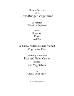 download the book - Low Budget Vegetarian