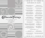 small plates snacks - The Cheesecake Factory