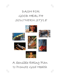 Dash for Good Health Southern Style Cookbook - Medical University