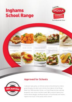 School Brochure - Inghams Enterprises