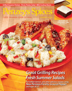 Great Grilling Recipes Fresh Summer Salads - Penzeys Spices
