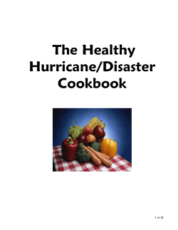 The Healthy Hurricane/Disaster Cookbook