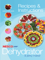 Dehydrator Manual - Nesco/American Harvest