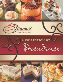 Download Our Product Catalogue - Diannes Fine Desserts