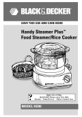 Handy Steamer Plus™ Food Steamer/Rice Cooker - Applica Use