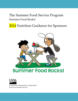 The Summer Food Service Program