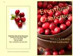 Everything Cranberries - Utah State University Extension