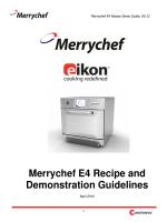 e4 Recipe Guide - Merrychef