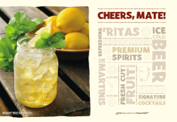 Drink Menu - Outback Steakhouse