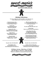Download a pdf copy of our Holiday Menu for 2013 - Sweet Marias