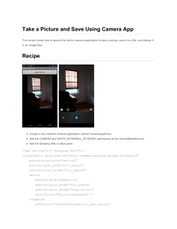 Take a Picture and Save Using Camera App Recipe - Xamarin