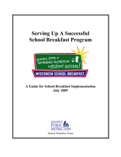 Serving Up a Successful School Breakfast Program - WI Child